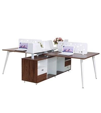 Module bàn làm việc 4 chỗ LUXMD03C10